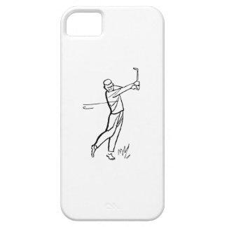 Cartoon Man Golfing iPhone 5 Case