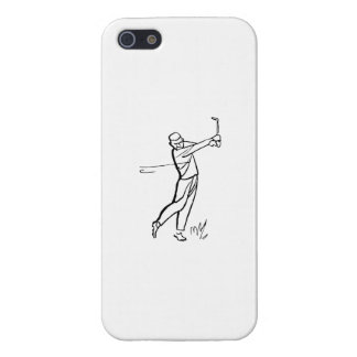 Cartoon Man Golfing Case For iPhone 5