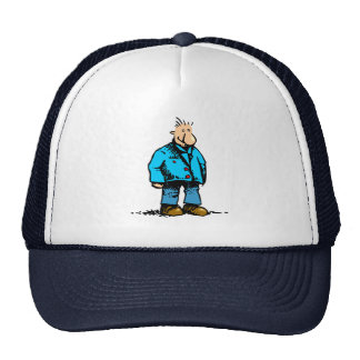 Cartoon Man With Big Nose and Blue Jacket Cap