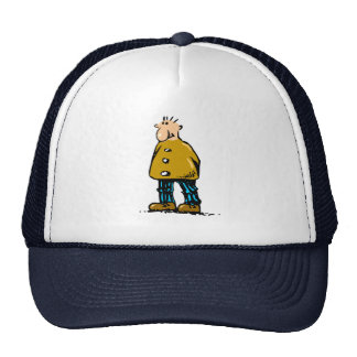 Cartoon Man With Big Nose and Gold Jacket Cap