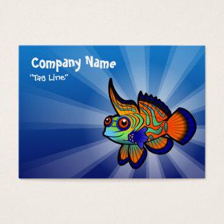 Cartoon Mandarin / Dragonet Fish Business Card