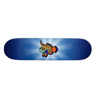 Cartoon Mandarin / Dragonet Fish Custom Skateboard