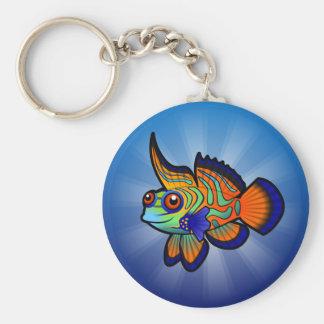 Cartoon Mandarin / Dragonet Fish Key Ring