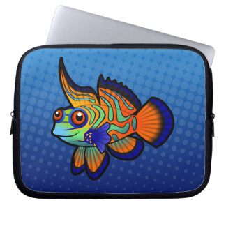 Cartoon Mandarin / Dragonet Fish Laptop Sleeve