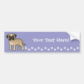 Cartoon Mastiff / Bullmastiff Bumper Sticker