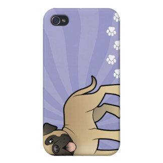 Cartoon Mastiff / Bullmastiff Case For iPhone 4