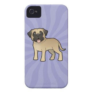 Cartoon Mastiff / Bullmastiff iPhone 4 Case