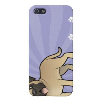 Cartoon Mastiff / Bullmastiff iPhone 5 Cover