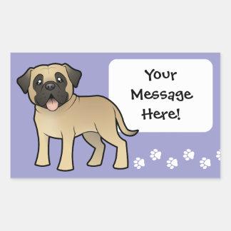 Cartoon Mastiff / Bullmastiff Rectangular Sticker