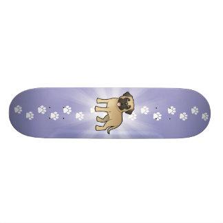 Cartoon Mastiff / Bullmastiff Skate Board