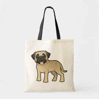 Cartoon Mastiff / Bullmastiff Tote Bag