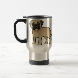 Cartoon Mastiff / Bullmastiff Travel Mug