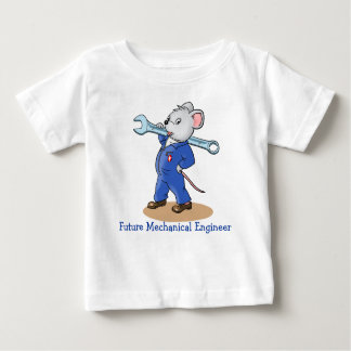 Cartoon Mechanic Mouse  -  Baby T-shirt
