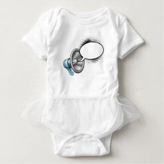 Cartoon Megaphone and Speech Bubble Baby Bodysuit