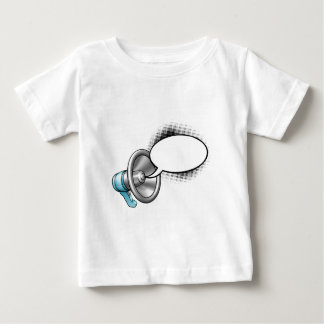 Cartoon Megaphone and Speech Bubble Baby T-Shirt
