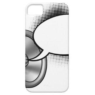 Cartoon Megaphone and Speech Bubble iPhone 5 Cases