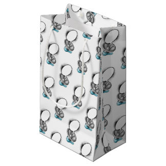 Cartoon Megaphone and Speech Bubble Small Gift Bag