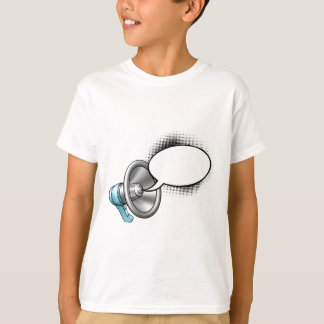 Cartoon Megaphone and Speech Bubble T-Shirt