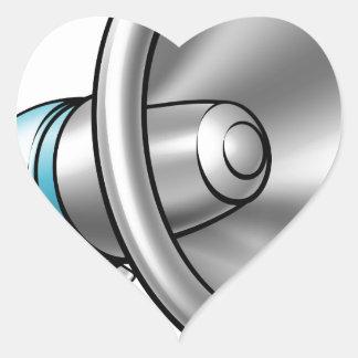 Cartoon Megaphone Heart Sticker