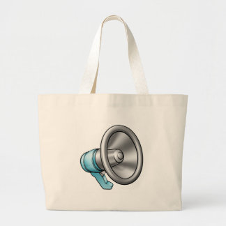 Cartoon Megaphone Large Tote Bag