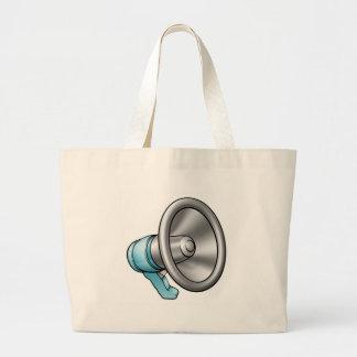 Cartoon Megaphone Large Tote Bag