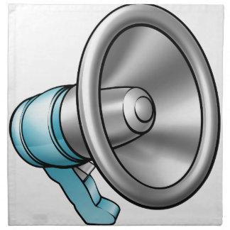 Cartoon Megaphone Napkin