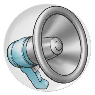 Cartoon Megaphone Plate