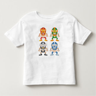 Cartoon Mexican Wrestlers Toddler T-Shirt