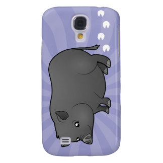 Cartoon Miniature Pig Galaxy S4 Case