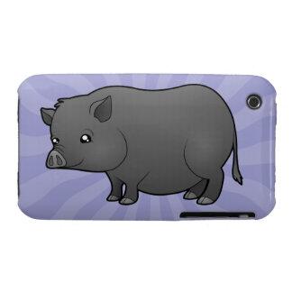 Cartoon Miniature Pig iPhone 3 Case