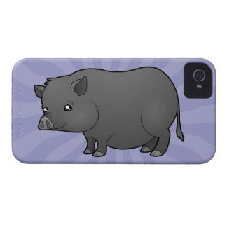 Cartoon Miniature Pig iPhone 4 Case