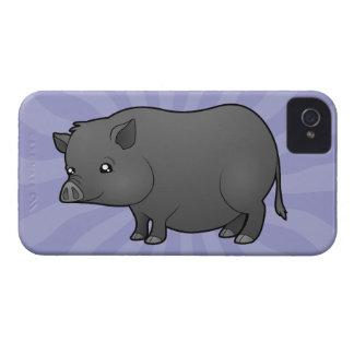 Cartoon Miniature Pig iPhone 4 Case