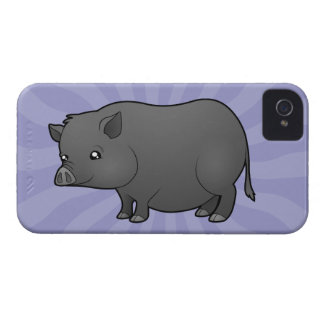 Cartoon Miniature Pig iPhone 4 Case-Mate Cases