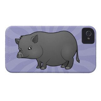 Cartoon Miniature Pig iPhone 4 Case-Mate Cases
