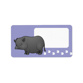 Cartoon Miniature Pig Label