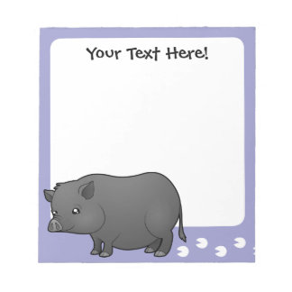 Cartoon Miniature Pig Notepad