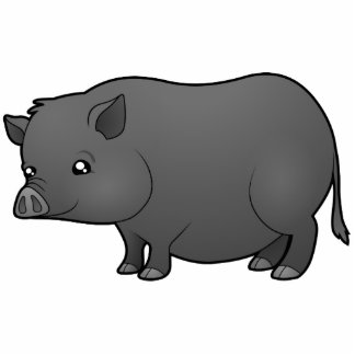 Cartoon Miniature Pig Photo Sculpture Magnet