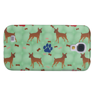 Cartoon Miniature Pinscher Galaxy S4 Case