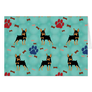 Cartoon Miniature Pinscher Greeting Card