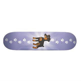 Cartoon Miniature Pinscher / Manchester Terrier 21.6 Cm Old School Skateboard Deck