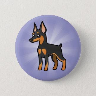 Cartoon Miniature Pinscher / Manchester Terrier 6 Cm Round Badge