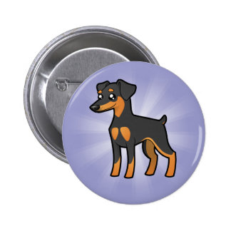 Cartoon Miniature Pinscher / Manchester Terrier 6 Cm Round Badge