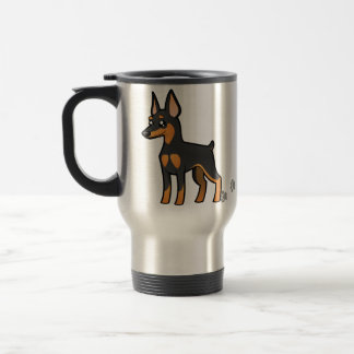 Cartoon Miniature Pinscher / Manchester Terrier Travel Mug