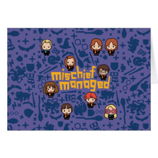 "Cartoon ""Mischief Managed"" Graphic Card"