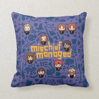 """Cartoon """"Mischief Managed"""" Graphic Cushion"""