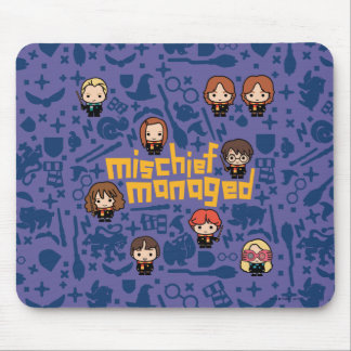 "Cartoon ""Mischief Managed"" Graphic Mouse Mat"