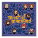 """Cartoon """"Mischief Managed"""" Graphic Poster"""