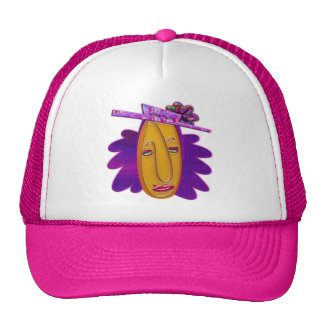 Cartoon Modern Woman Print Cap
