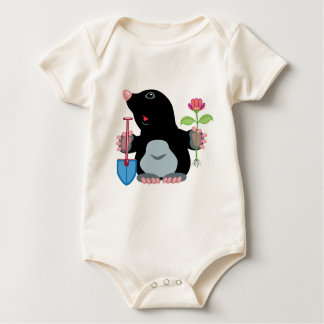 cartoon mole baby bodysuit