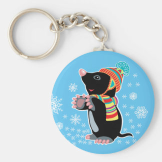 cartoon mole key ring